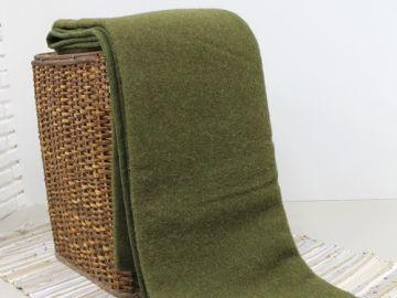 """Шерстяное одеяло """"Хаки"""""""