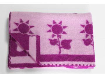 """Дизайнерское шерстяное одеяло """"Сиреневая поляна"""""""