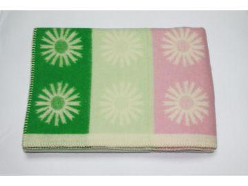 """Дизайнерское шерстяное одеяло """"Нежные ромашки"""""""