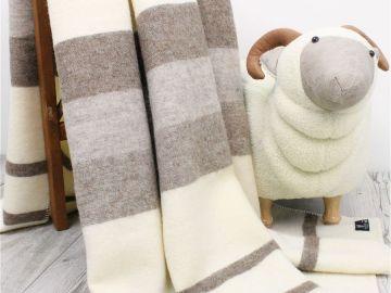 """Дизайнерское шерстяное одеяло """"Альпака"""""""