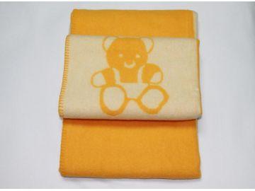 """Дизайнерское шерстяное одеяло """"Желтые мишки"""""""