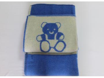 """Дизайнерское шерстяное одеяло """"Cиние мишки"""""""