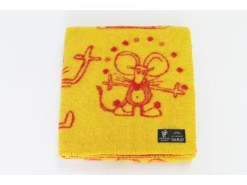 """Дизайнерское шерстяное одеяло """"Мышки"""""""