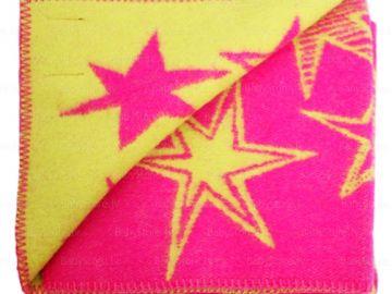 """Дизайнерское шерстяное одеяло """"Розовые звезды"""""""