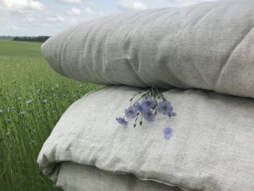 "Одеяло стёганое на 100% льняное ""Home Linen"" 140х205 см."
