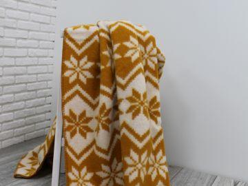 """Одеяло шерстяное """"Песочные снежинки"""""""