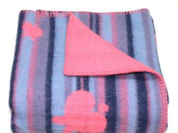 """Дизайнерское шерстяное одеяло """"Розовые бабочки"""""""
