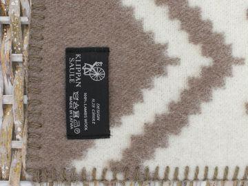 """Дизайнерское шерстяное одеяло""""Снежинки brown"""""""