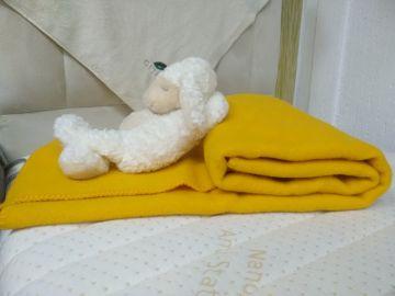"""Одеяло шерстяное """"Жёлтый"""""""